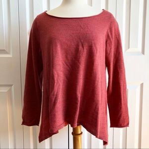 EILEEN FISHER 100% Merino Wool Hi Lo Boxy Top